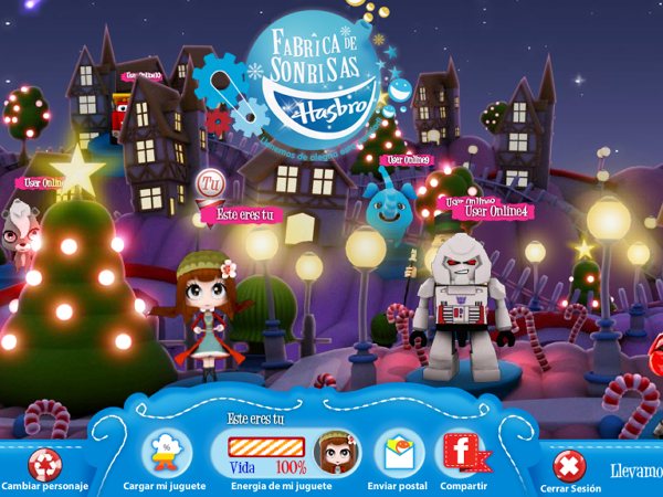 Hasbro's Christmas village